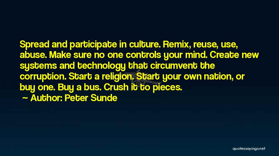 Remix Culture Quotes By Peter Sunde
