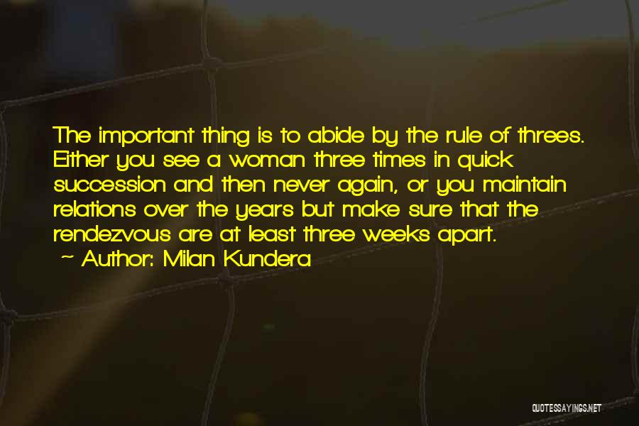Rendezvous Quotes By Milan Kundera