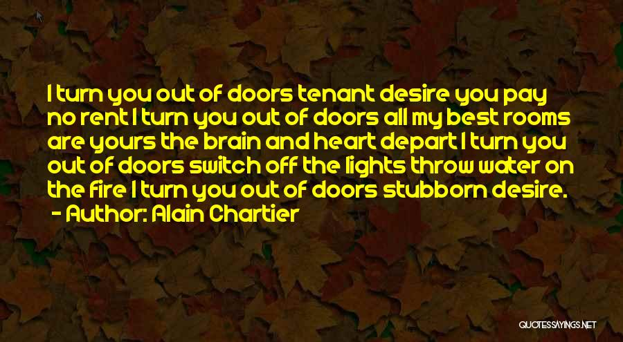 Rent Quotes By Alain Chartier