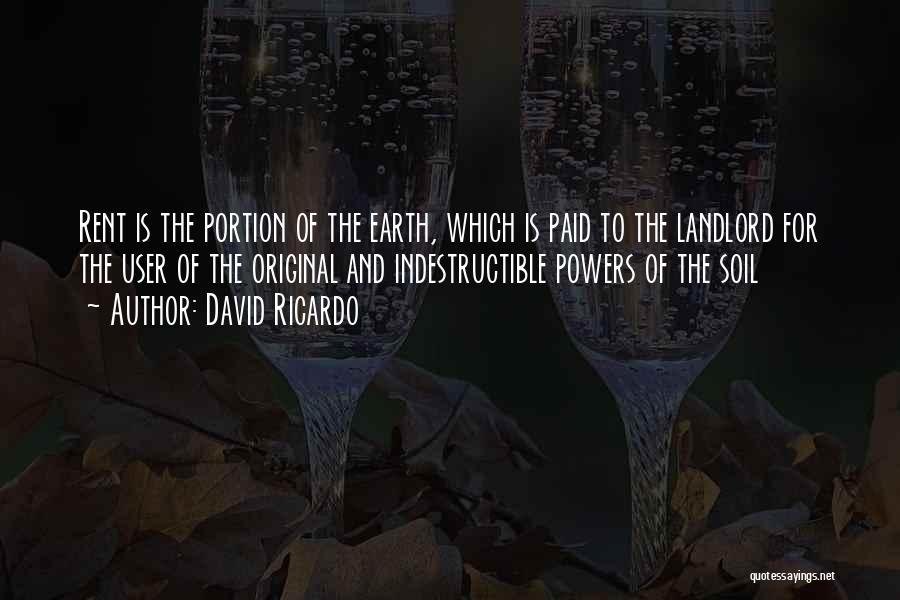 Rent Quotes By David Ricardo