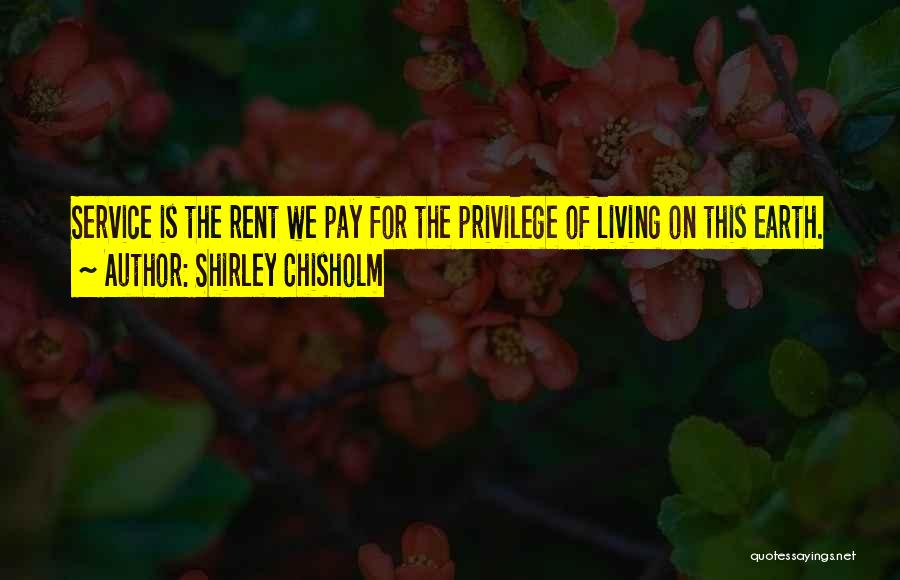 Rent Quotes By Shirley Chisholm