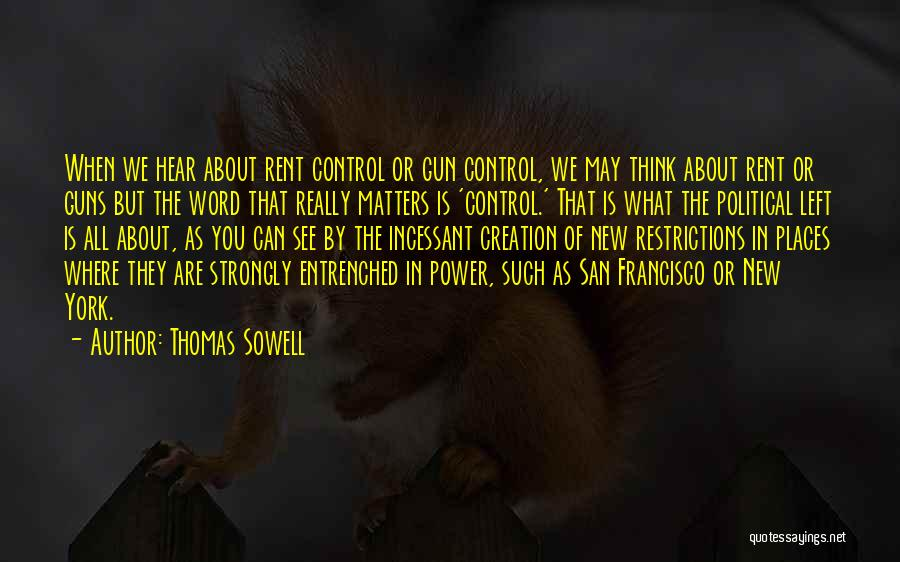 Rent Quotes By Thomas Sowell