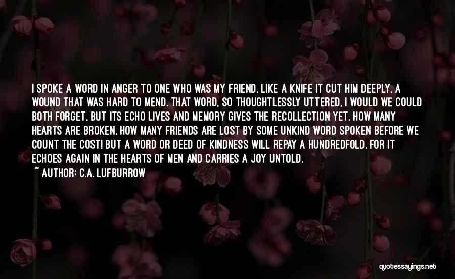 Repay Quotes By C.A. Lufburrow