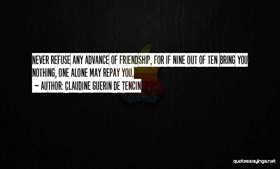 Repay Quotes By Claudine Guerin De Tencin