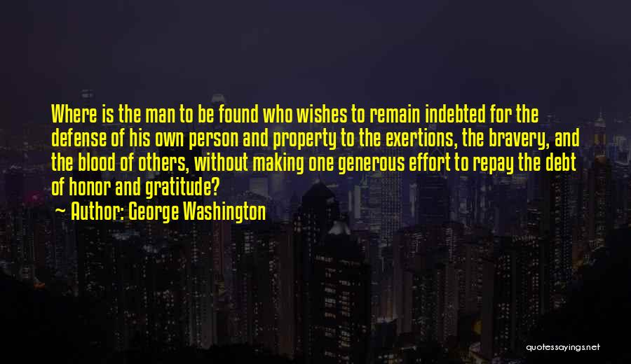 Repay Quotes By George Washington