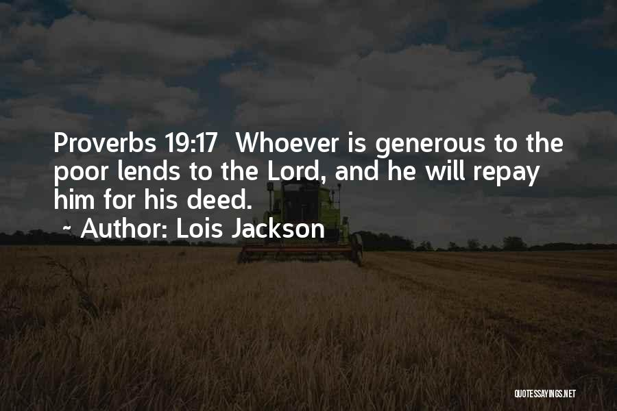 Repay Quotes By Lois Jackson