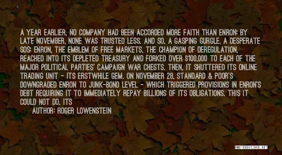 Repay Quotes By Roger Lowenstein