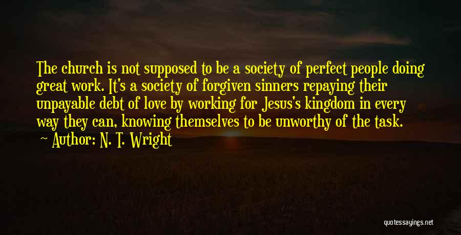 Repaying Debt Quotes By N. T. Wright