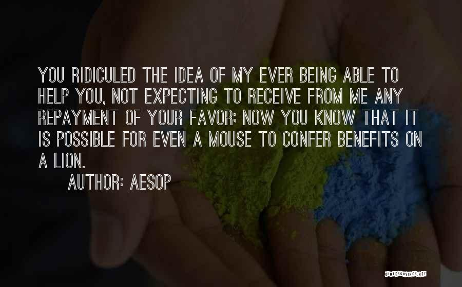 Repayment Quotes By Aesop