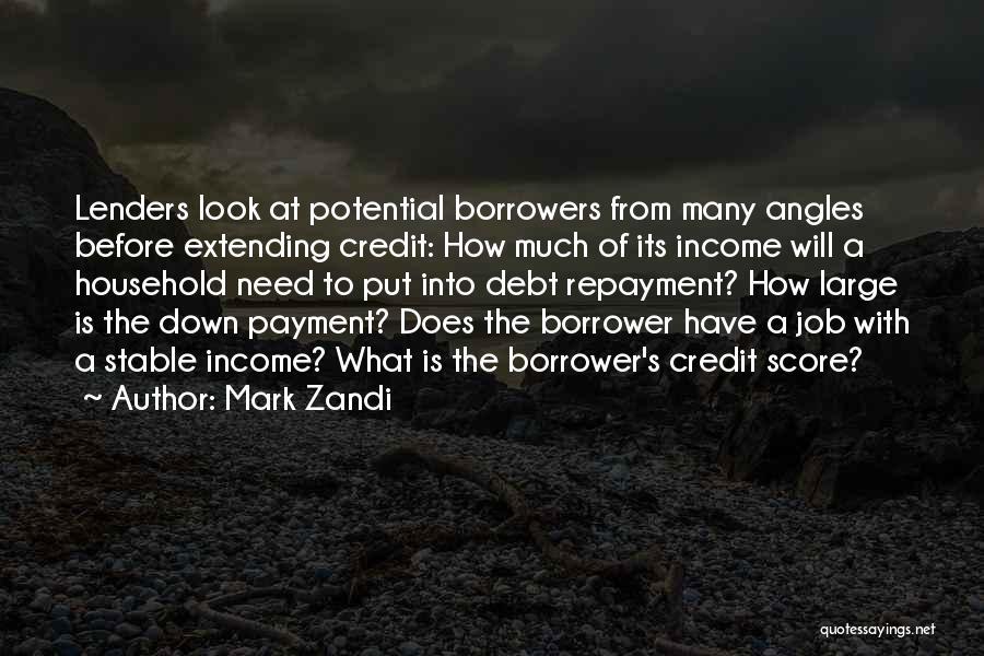 Repayment Quotes By Mark Zandi