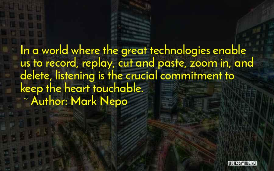 Replay Quotes By Mark Nepo