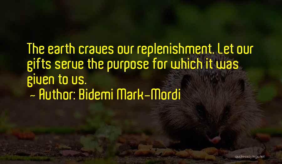 Replenishment Quotes By Bidemi Mark-Mordi