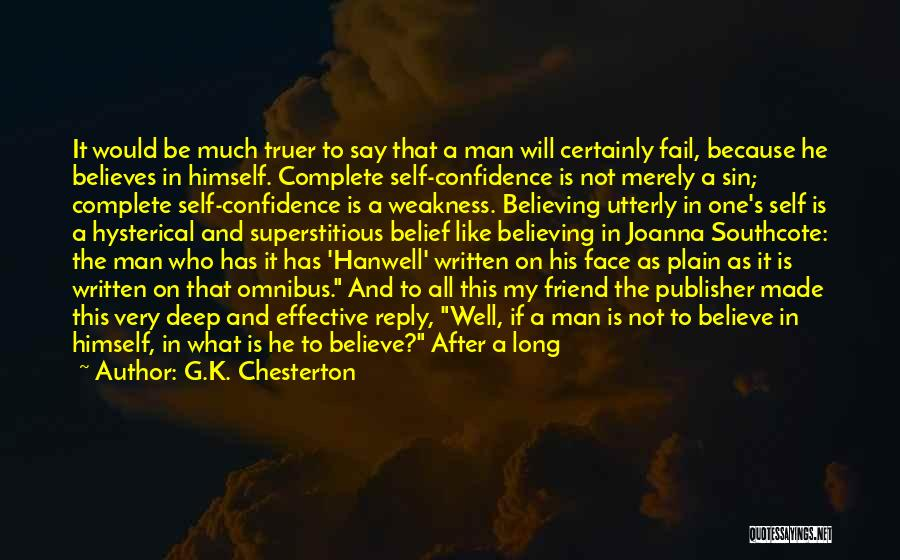 Reply To All Quotes By G.K. Chesterton