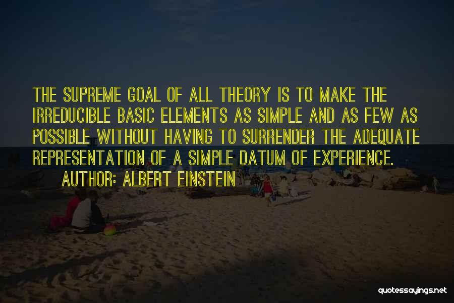 Representation Theory Quotes By Albert Einstein