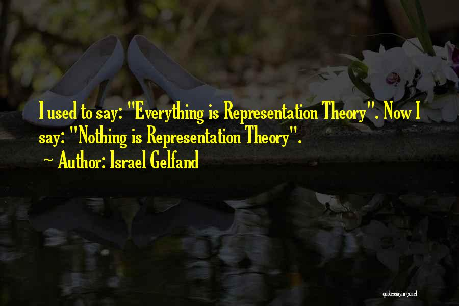 Representation Theory Quotes By Israel Gelfand