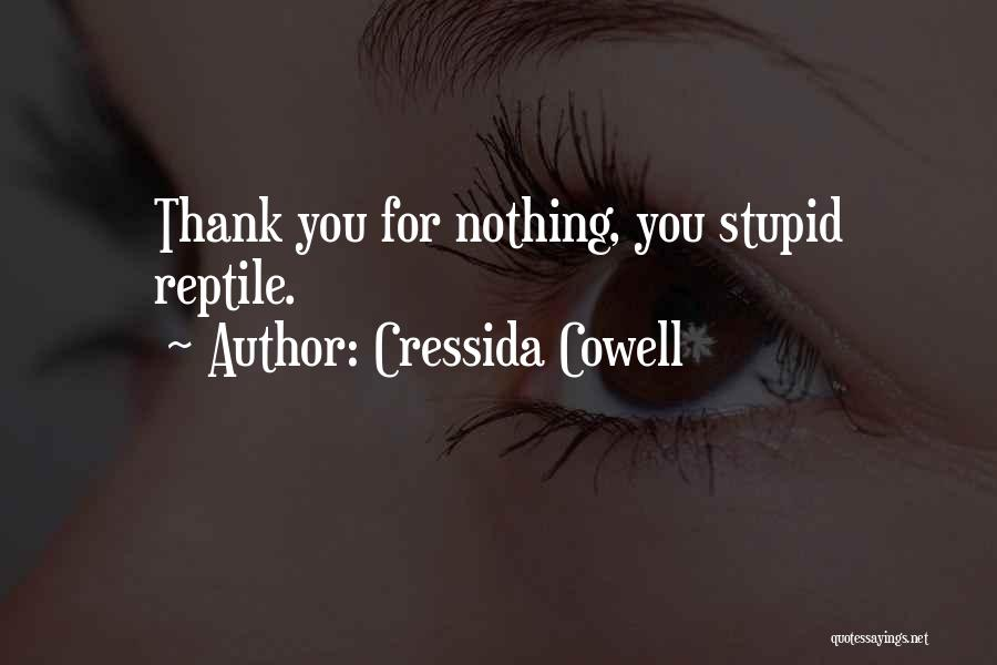 Reptile Quotes By Cressida Cowell