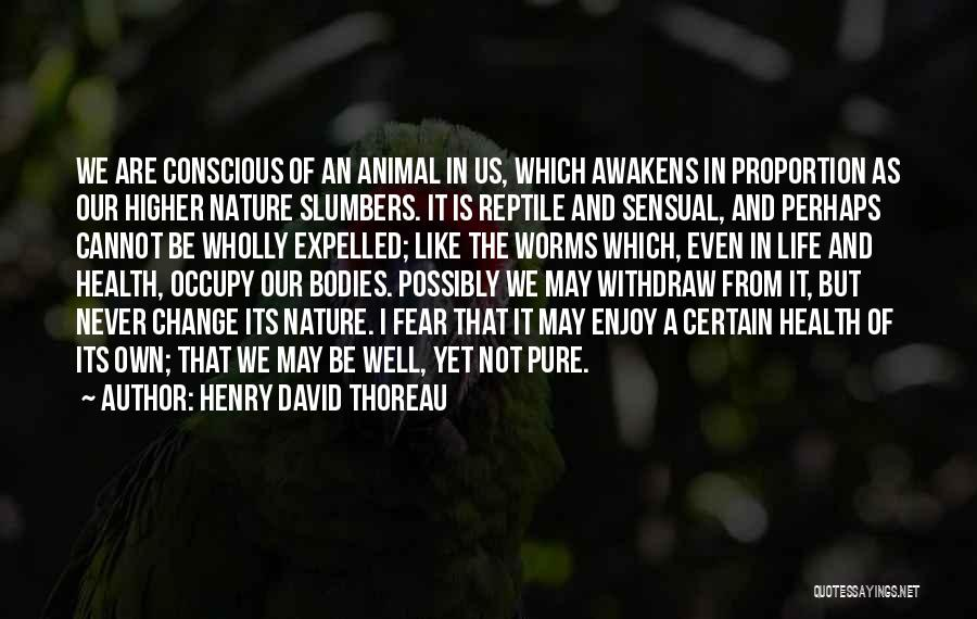 Reptile Quotes By Henry David Thoreau