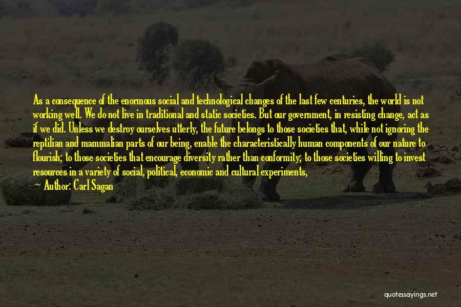 Reptilian Quotes By Carl Sagan