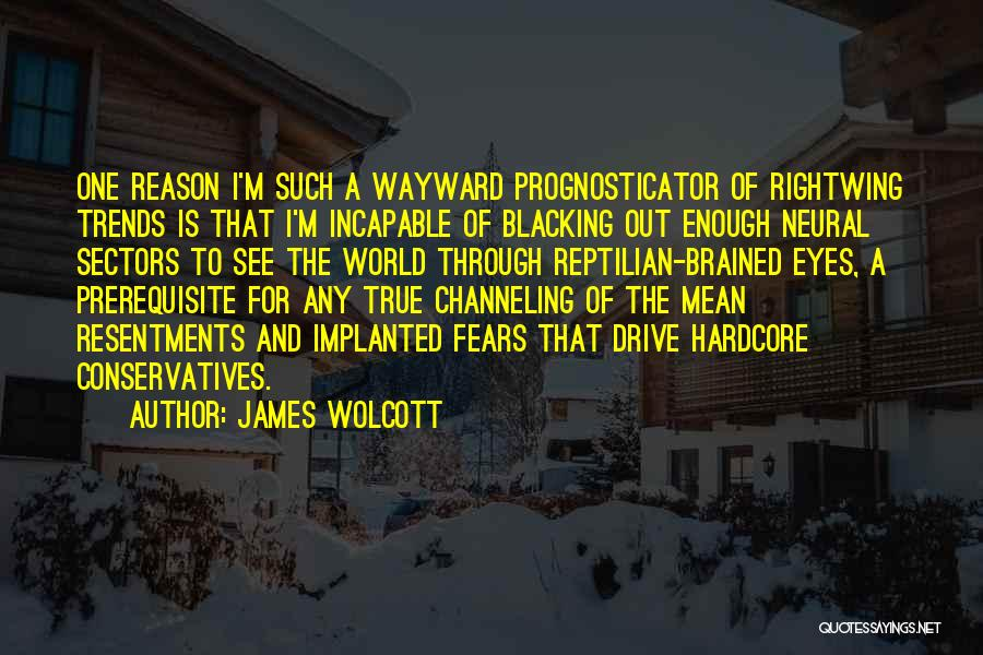 Reptilian Quotes By James Wolcott