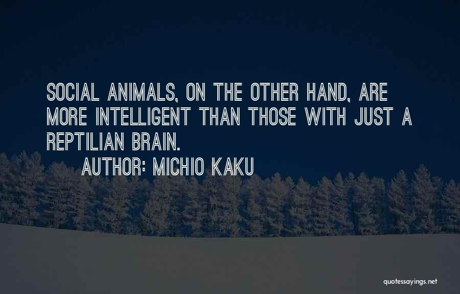 Reptilian Quotes By Michio Kaku