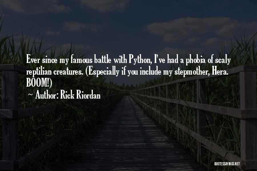 Reptilian Quotes By Rick Riordan