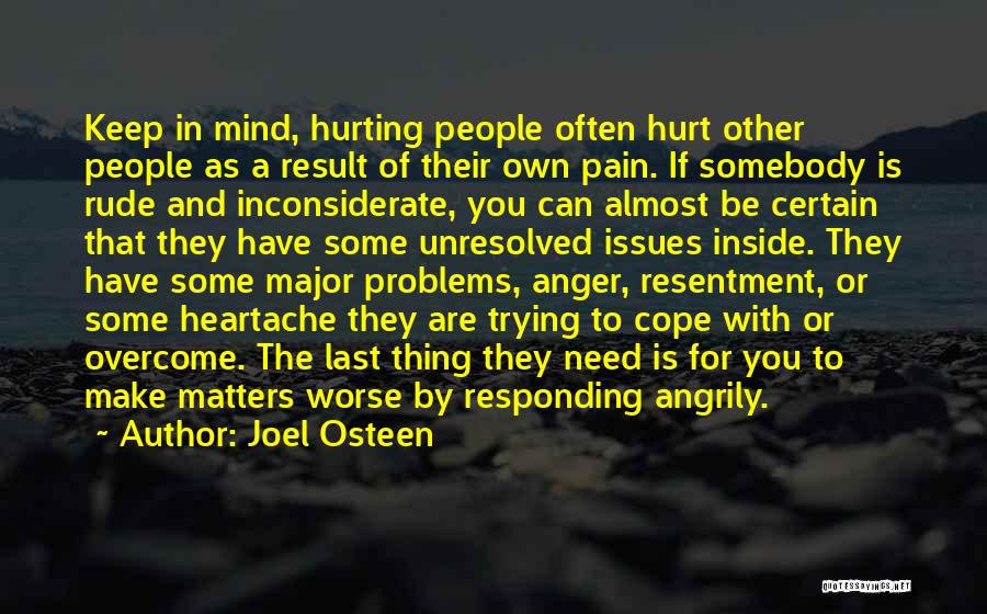 Resentment And Forgiveness Quotes By Joel Osteen