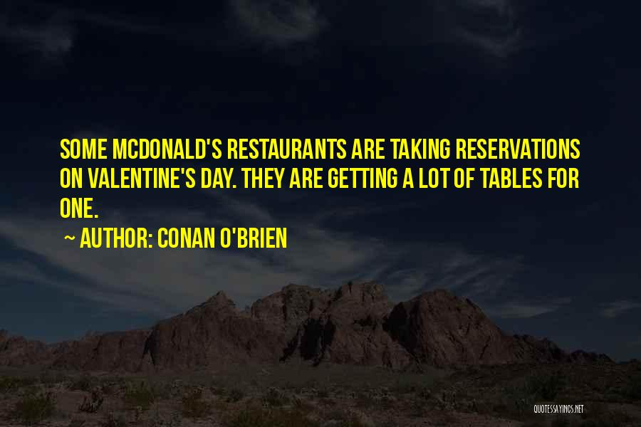 Reservations Quotes By Conan O'Brien