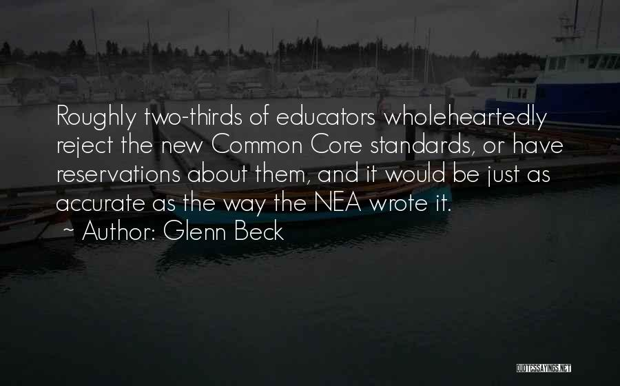 Reservations Quotes By Glenn Beck