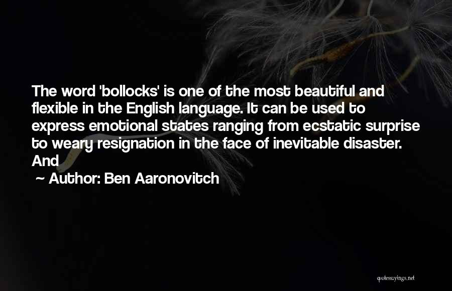 Resignation Quotes By Ben Aaronovitch