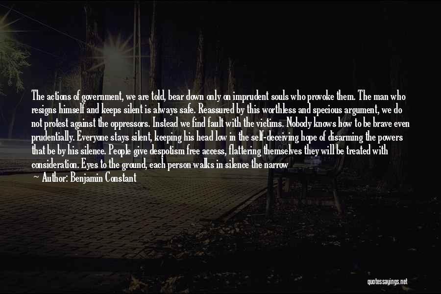 Resigns Quotes By Benjamin Constant