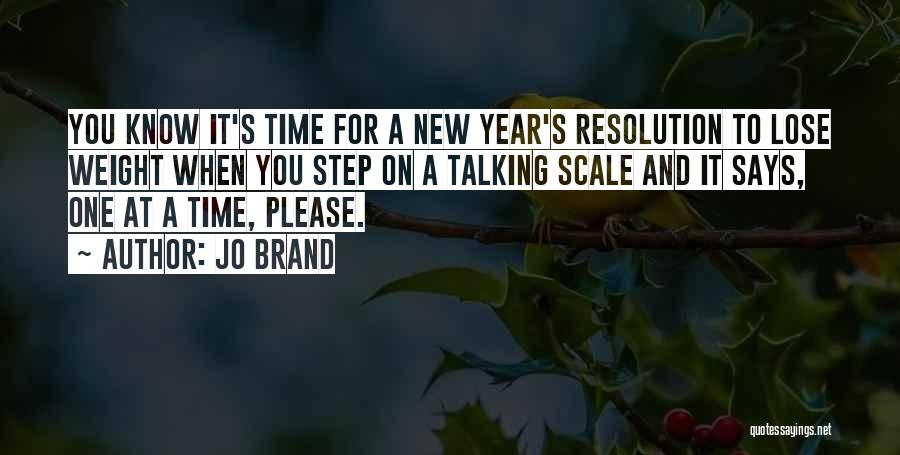 Resolution New Year Quotes By Jo Brand
