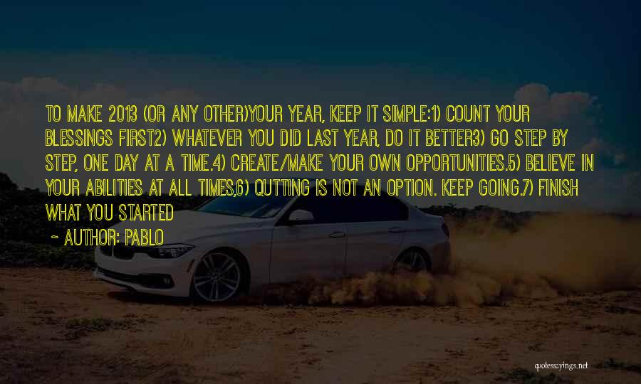 Resolution New Year Quotes By Pablo