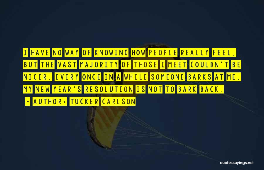 Resolution New Year Quotes By Tucker Carlson