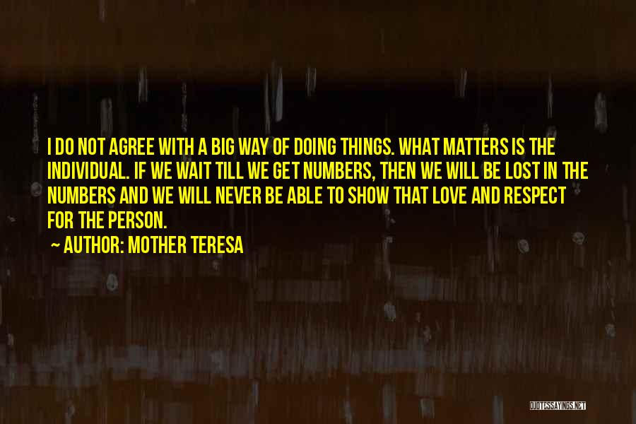 Respect And Love Your Mother Quotes By Mother Teresa