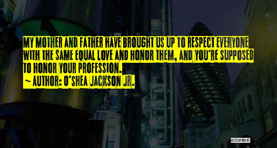 Respect And Love Your Mother Quotes By O'Shea Jackson Jr.
