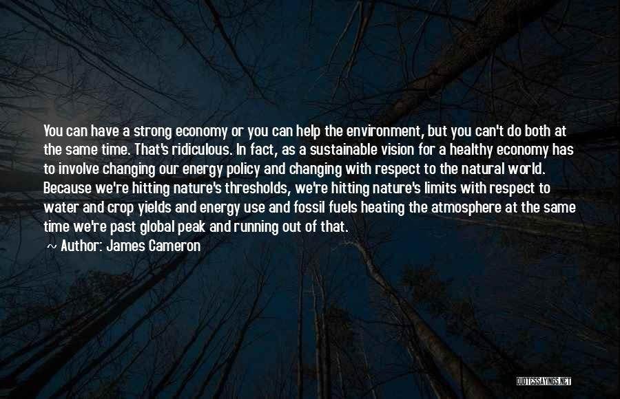 Respect For The Environment Quotes By James Cameron