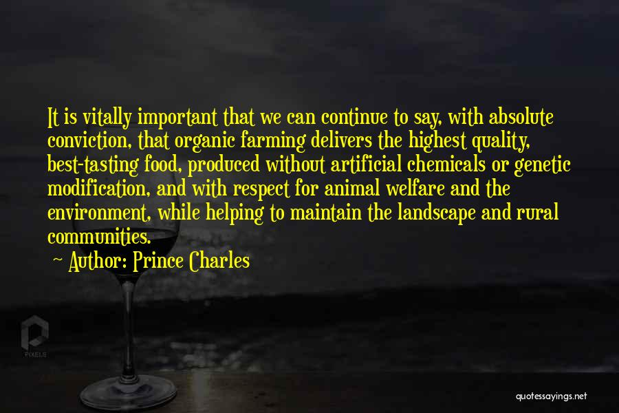 Respect For The Environment Quotes By Prince Charles
