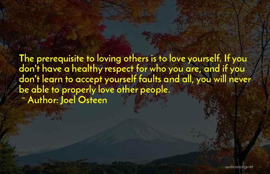 Respect For Yourself And Others Quotes By Joel Osteen