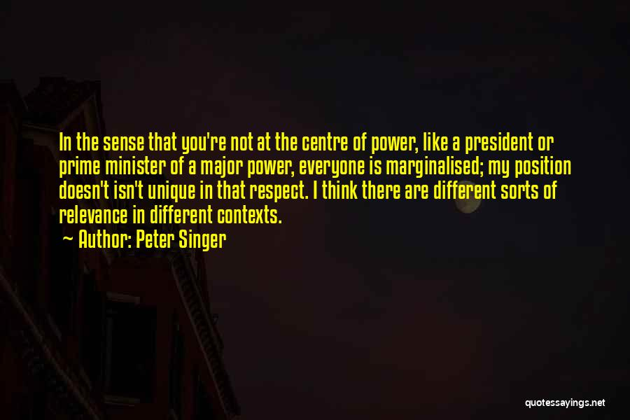 Respect Our President Quotes By Peter Singer
