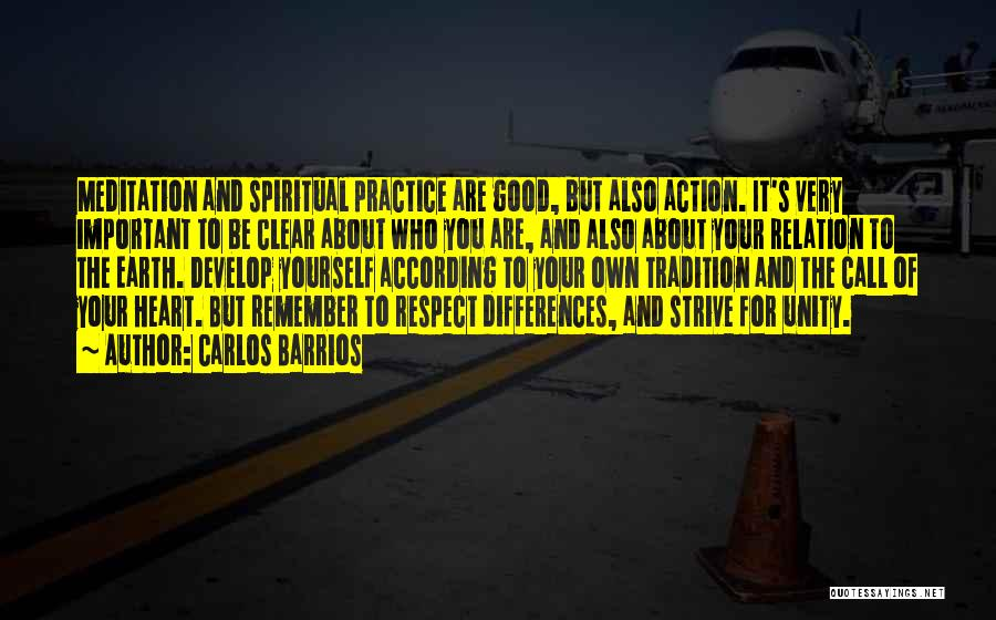 Respect To You Quotes By Carlos Barrios