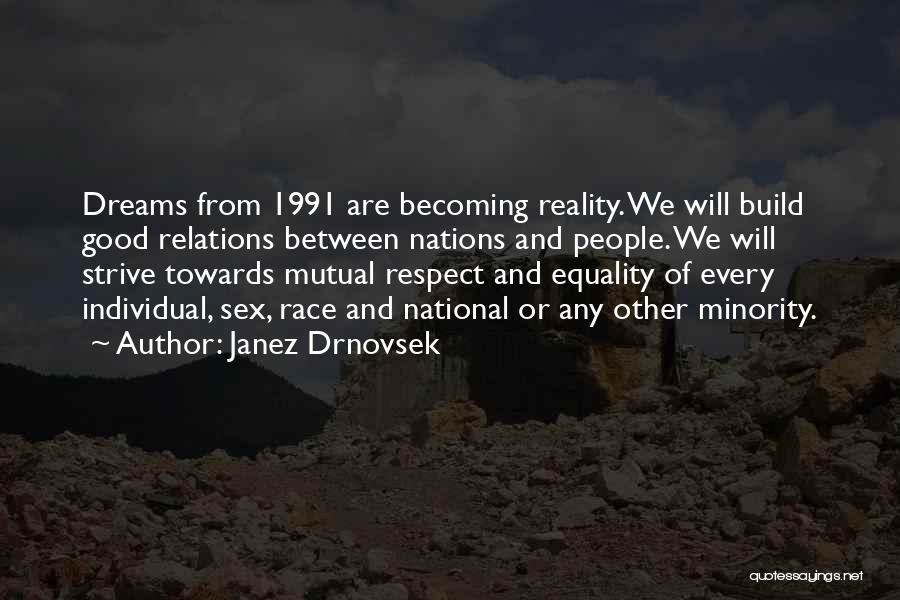Respect Towards Others Quotes By Janez Drnovsek