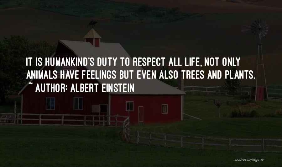 Respect Your Feelings Quotes By Albert Einstein
