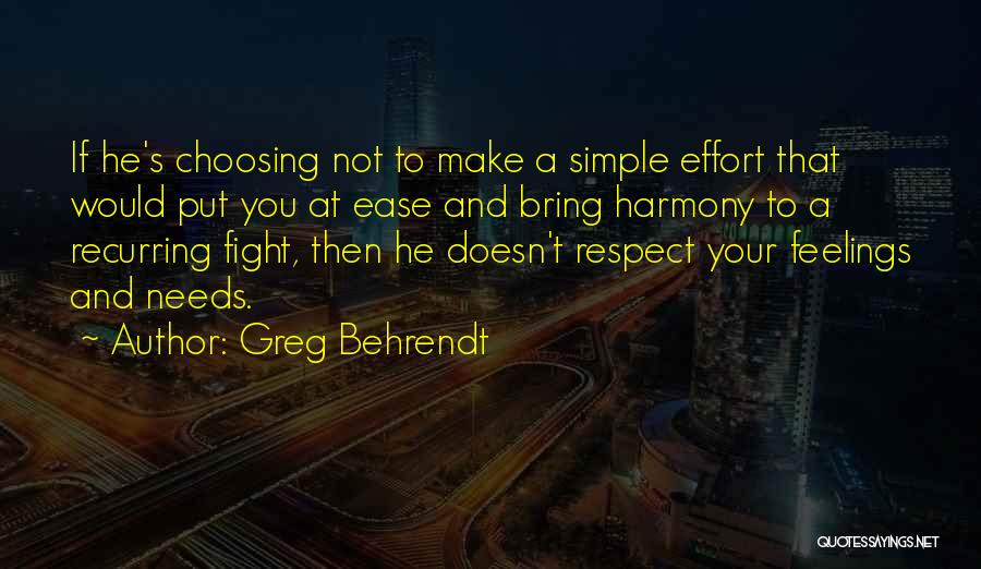 Respect Your Feelings Quotes By Greg Behrendt