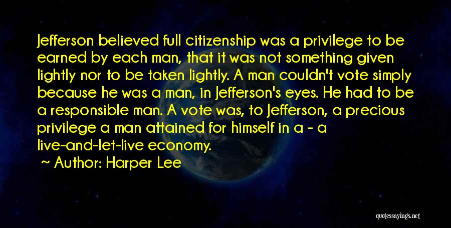 Responsible Citizenship Quotes By Harper Lee