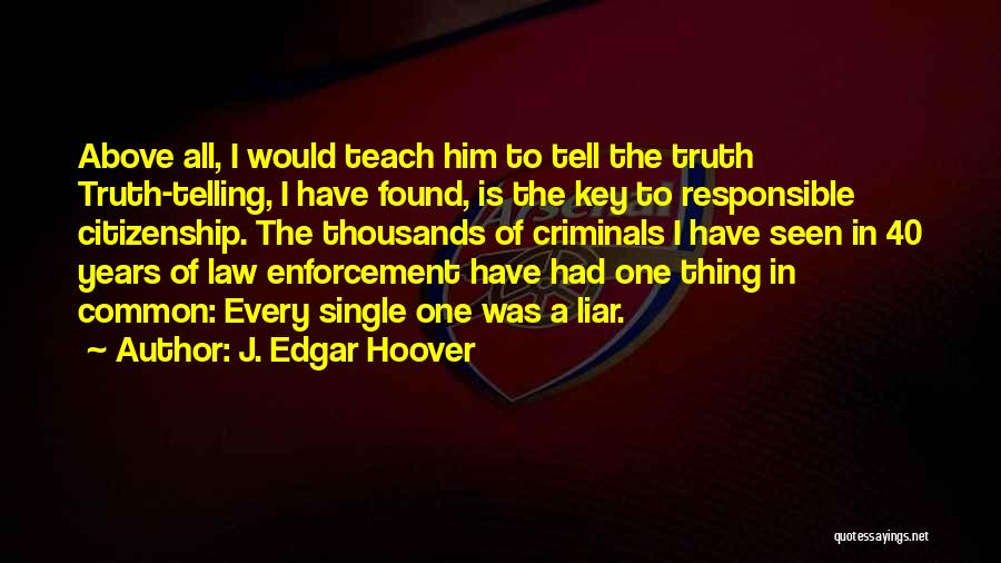 Responsible Citizenship Quotes By J. Edgar Hoover