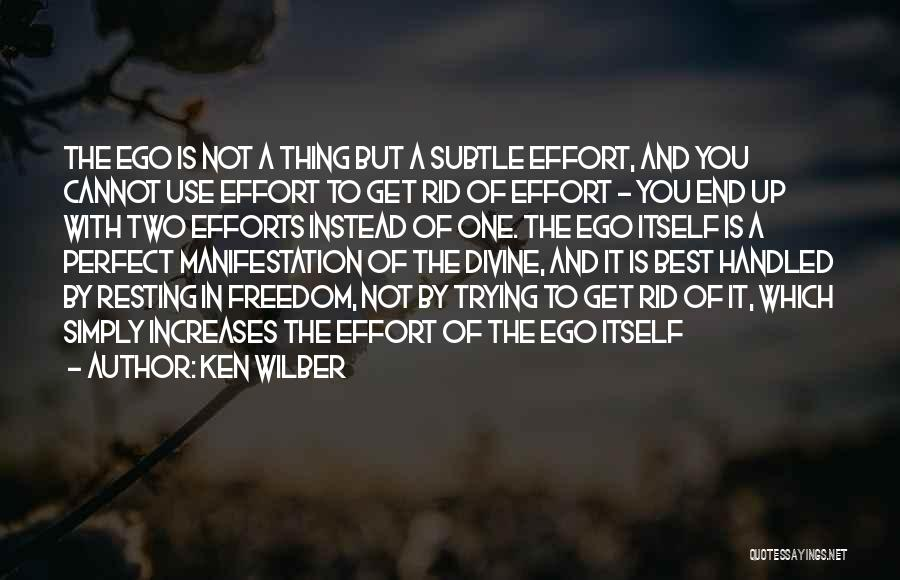 Resting Up Quotes By Ken Wilber