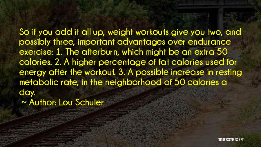 Resting Up Quotes By Lou Schuler