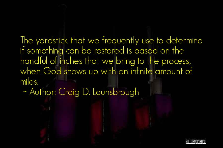Restoration In The Bible Quotes By Craig D. Lounsbrough