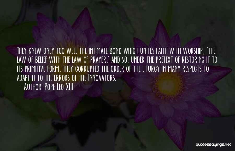 Restoring Order Quotes By Pope Leo XIII