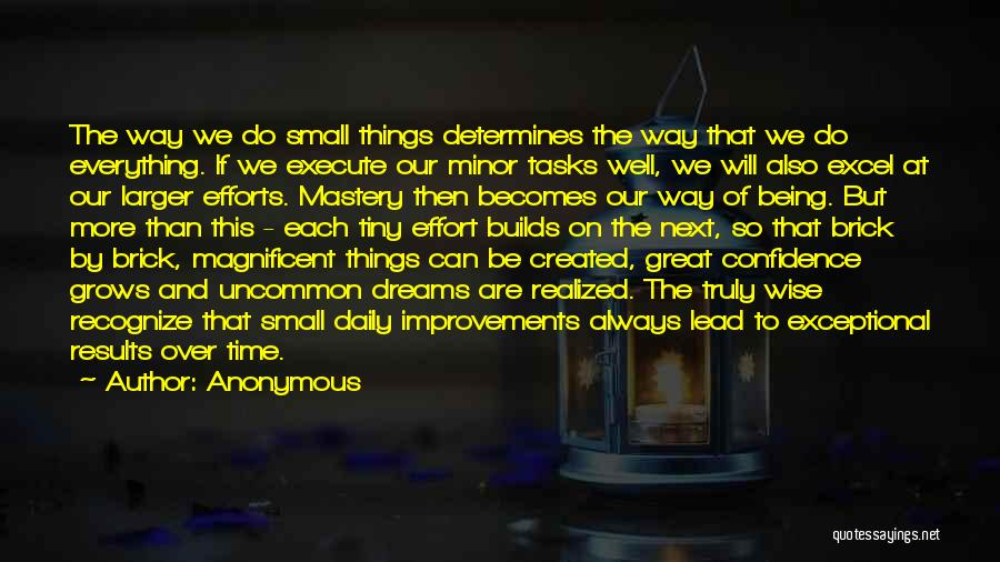 Results And Effort Quotes By Anonymous